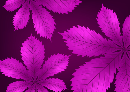 Bright stylish abstract background with chestnut leaves for your design. Vector illustration Stock Vector - 124768483