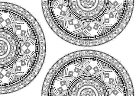 Vector background of a round pattern in the form of a mandala. Ancient decorative elements. Islamic, Arab, Indian, Ottoman motifs. Can be used for textile, greeting card, coloring book - vector graphics Illustration
