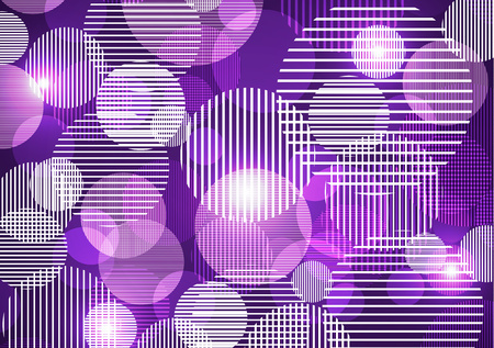 Bright abstract texture with circles and stripes. Vector illustration of surface design for print and the web. A fun and dynamic fabric pattern.
