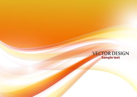 Moderner abstrakter Hintergrund mit hellen Wellenlinien. Vektorillustration für Webdesign, Websitedesign, Tapete, Fahne, Präsentation, Abdeckung. Futuristischer welliger Hintergrund.