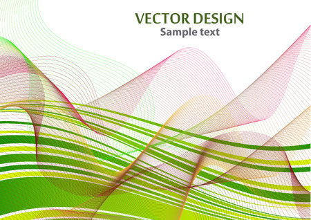 Distorted wave colorful texture. Abstract dynamic wavy surface. Vector strip warp background. Transition and gradation of color. Vector illustration