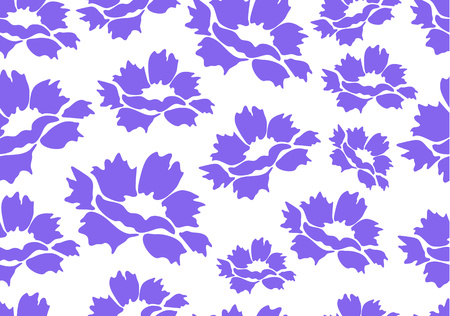 Decorative seamless floral background with simple peony flowers on a white background. Romantic design for natural cosmetics, perfumes, womens goods, salons, spa. Textile design fabric. Vector illust
