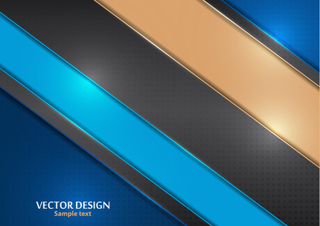 Bright modern abstract background with geometric elements. Colored diagonal stripes. Vector illustration for your design.