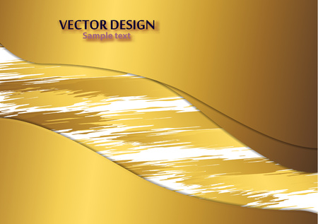 Colorful paint brush strokes in craft paper style. Vector illustration cut out of paper. Art card, creative flyer, web banner, birthday, wedding invitation Banco de Imagens - 123330333