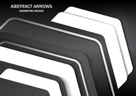Corporate background with metal colored arrows and white arrows. Abstract template with a clean minimal style. Modern graphics. Vector illustration for your design. Ilustração