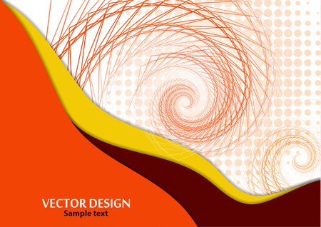 Horizontal A4 banner with a 3D abstract background of bright paper cut waves, transformation shapes. Contrast colors. Vector design layout for presentations, flyers, posters.
