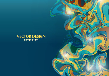 Template design for presentation, cover, flyer, banner with wavy stripes in modern style. Abstract backgrounds with distortion of geometric shapes. Space for your text. Vector illustration Illustration