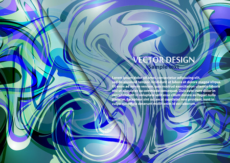 Bright modern abstract vector background of curves lines for your design. Space for text. Vector illustration Ilustrace