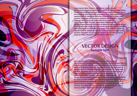Bright modern abstract vector background of curves lines for your design. Space for text. Vector illustration Ilustração