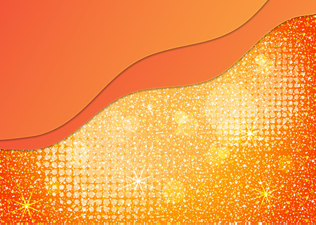 Bright colorful background with glitter effect. Abstract waves, layers. Empty space for text. Trendy modern vector illustration for your design.