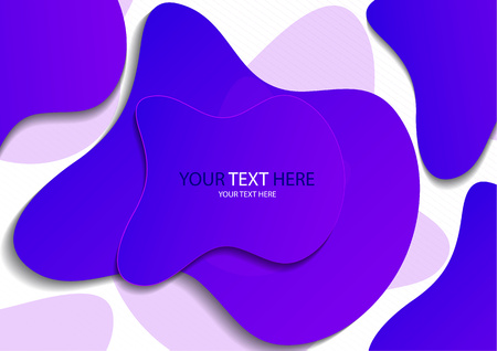 Colorful fluid geometric background. Liquid composition 3d form. Dynamic background for invitation, booklet or business card design. Modern abstract cover. Vector illustration