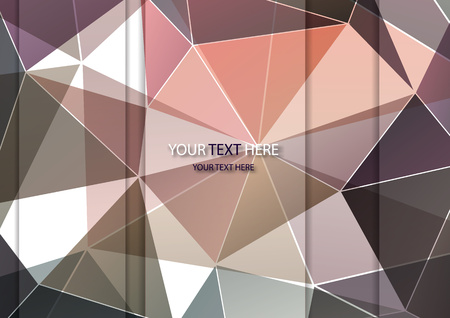 Vector abstract multicolored polygonal mosaic background. Modern geometric triangular pattern. Origami style with gradient. Business design template. Vector illustration