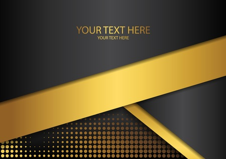 Bright halftone dots and colored inclined ribbons stripes on a dark background. Luxury poster background template. 3d advertising modern graphic design. Vector illustration