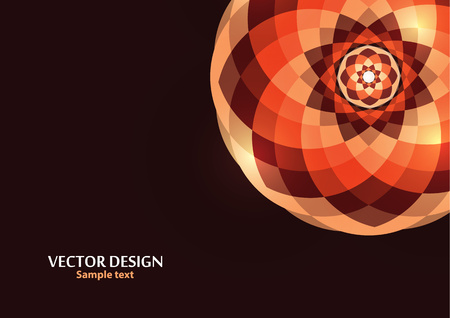 Bright vector ornament pattern with colorful details on a dark background. Template for any surface. Elegant background with oriental ornaments of mandalas. Vector illustration