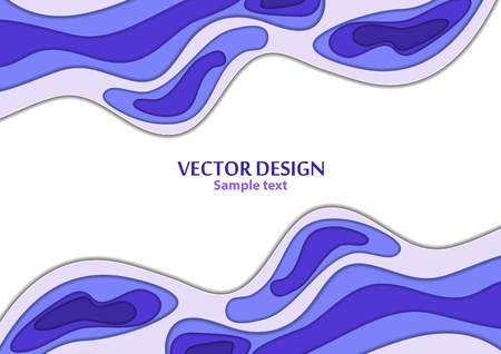 Abstract background paper cut. Colored layered vector hole 3d illustration. Vector design layout for business presentations, flyers, posters and invitations. Paper thread art. Vector illustration