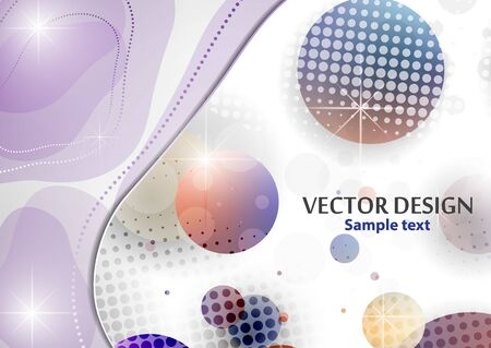 Creative liquid colorful form, consisting of circles and highlights. Fashionable composition of the current design. Abstract design template. Vector illustration Vektorgrafik