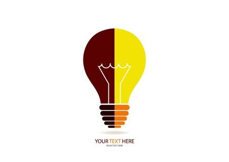 A bright bulb for a business light bulb half illuminating. The concept of global energy saving. Vector illustration for your design.