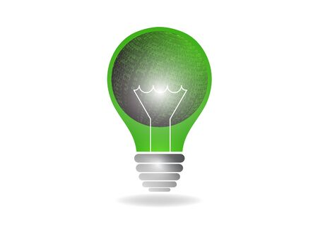 Abstract light bulb illuminates. The concept of global energy saving. The concept of a new business idea, discovery. Vector illustration for your design.