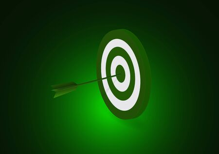 Target and arrow icon. Business target concept. Achievements and successes. Vector illustration in flat style for your design style.