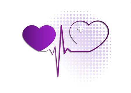 Heart icon with pulse line on white background. Medical icon. Modern simple design. Vector illustration for your design.