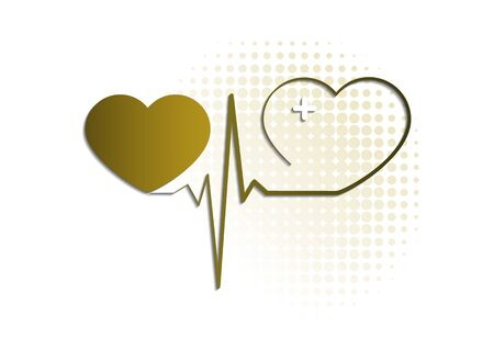 Heart icon with pulse line on white background. Medical icon. Modern simple design. Vector illustration for your design. Stock Vector - 128427670