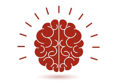 human brain icon. Concept of thinking, brainstorming, good idea, brain activity, understanding. Vector illustration for your design.