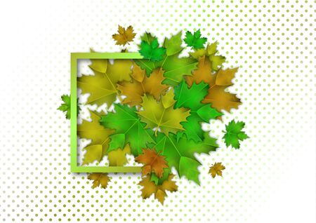 Bright maple leaves. The concept of a beautiful autumn. Vector illustration for your design.