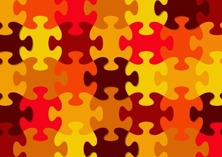 Abstract background from bright puzzle pieces. The composition is a complete puzzle. Vector illustration for your design.