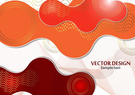 Bright dynamic texture background with liquid forms modern concept, wavy lines, circles. Creative geometric wallpaper. Vector illustration for your design.