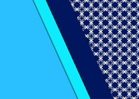 A decorative geometric line borders on a repeating oriental texture. Corporate design. Modern template for brochure, flyer, cover, magazine. Vector illustration for your design.