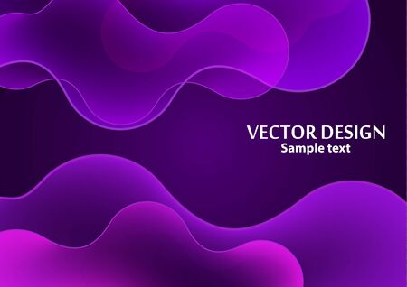 Bright dynamic texture background with liquid forms modern concept, smooth layers. Creative geometric wallpaper. Vector illustration for your design. Çizim