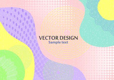 Concetto astratto creativo, forme colorate. Poster design futuristico con posto per testo o messaggio. Sfondo geometrico colorato da utilizzare come web design, banner, poster, pubblicità. Illustrazione vettoriale