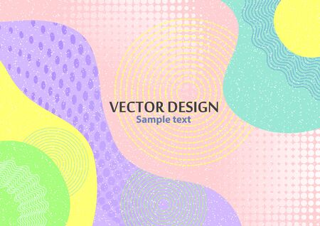Creative abstract concept, colored shapes. Futuristic poster design with place for text or message. Colorful geometric background for use as web design, banners, posters, advertising. Vector illustration