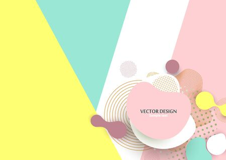 Dynamic color shapes and lines. Abstract composition with flowing liquid forms on a colored geometric background. Template for design banner, flyer or presentation. Vector illustration
