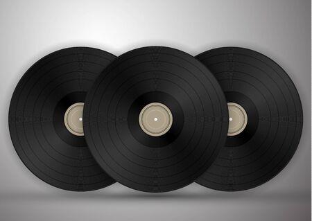 Vinyl records icon illustration, music pattern. Vector illustration for your design.
