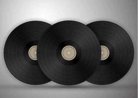 Vinyl-Schallplatten-Symbolillustration, Musikmuster. Vektorillustration für Ihr Design.