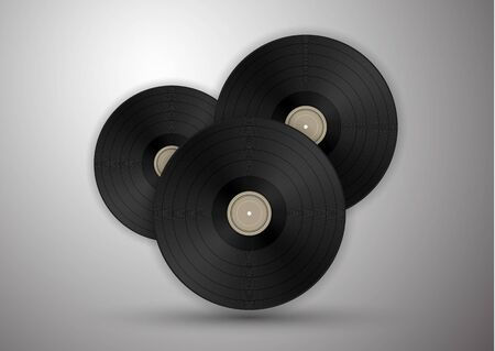 Vinyl records icon illustration, music pattern. Vector illustration for your design.