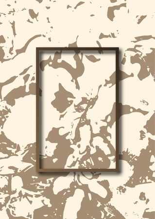 Abstract grunge stone texture. Rectangular frame. Template for your design. Vector illustration