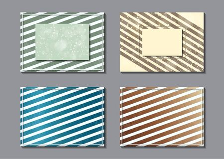 Set. Abstract striped background and frame. Dynamic stylish geometric frame. Design element for business cards, invitations, gift cards, leaflets, brochures, posters, leaflets, discounts and sales. Vector illustration