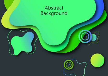 Abstract banner with smooth dynamic gradient shapes. Flowable liquid forms. 3d layered paper poster. Business presentation or brochure template. Vector.