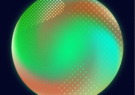 Bright background, circle, abstract waves of dots and particles. Vector illustration for your design.