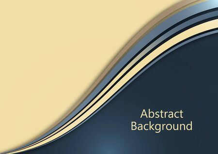 Bright abstract background with smooth curved wave lines. The effects of light and shadow. Place for advertising text. Vector illustration for your design. Иллюстрация