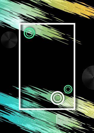 Abstract background template. Frame with bright brush strokes. Graphic design templates for banners, flyers, posters. Corporate design. Vector illustration