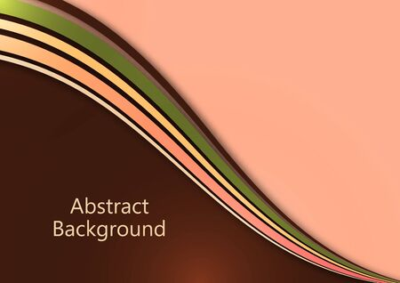 Bright abstract background with smooth curved wave lines. The effects of light and shadow. Place for advertising text. Vector illustration for your design. Ilustracja