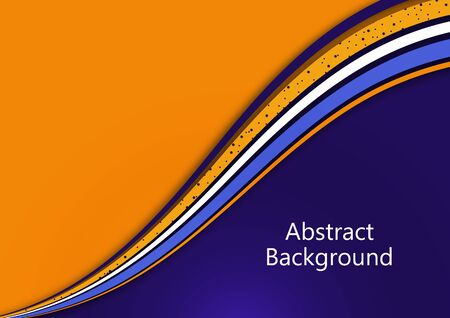 Bright abstract background with smooth curved wave lines. The effects of light and shadow. Place for advertising text. Vector illustration for your design. Çizim