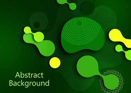 Fluid dynamic background for websites, landing page or business presentation. Abstract geometric wallpaper. Fashionable wavy shapes. Vector illustration. Banque d'images - 133280663