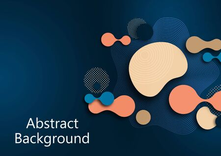 Fluid dynamic background for websites, landing page or business presentation. Abstract geometric wallpaper. Fashionable wavy shapes. Vector illustration. Banque d'images - 133280664