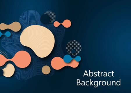 Fluid dynamic background for websites, landing page or business presentation. Abstract geometric wallpaper. Fashionable wavy shapes. Vector illustration. Banque d'images - 133280665