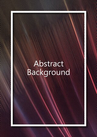 Abstract wavy square grid on a black background. Bright color gradient. Elegant background for wallpaper, banner, cover, flyer. Business template. Vector illustration Banque d'images - 133040805