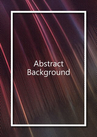 Abstract wavy square grid on a black background. Bright color gradient. Elegant background for wallpaper, banner, cover, flyer. Business template. Vector illustration Banque d'images - 133043599